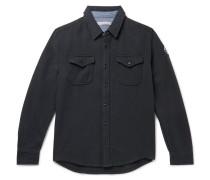 Blanket Appliquéd Organic Cotton-Twill Overshirt