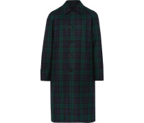 Reversible Black Watch Checked Wool-twill Trench Coat