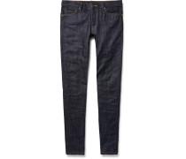 Skinny-fit Zip-detailed Panelled Selvedge Denim Jeans