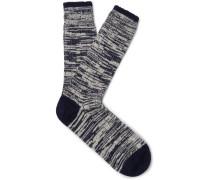 Mélange Merino Wool And Nylon-blend Socks
