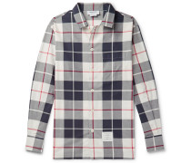 Checked Cotton-poplin Shirt - Gray