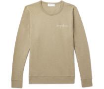Embroidered Fleece-back Cotton-jersey Sweatshirt