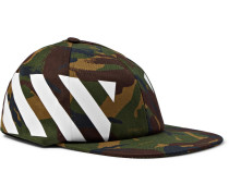 Camouflage-print Stretch-cotton Canvas Cap - Green