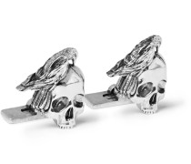 Skull Silver-tone Cufflinks - Silver