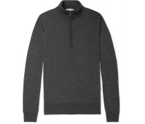 Tapton Slim-fit Merino Wool Half-zip Sweater