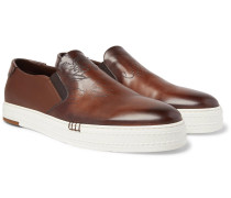Playtime Scritto Leather Slip-On Sneakers