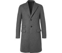 Slim-fit Felted Wool-blend Coat