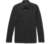 Slim-fit Slub Linen And Cotton-blend Shirt