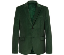 Davide Forest-green Cotton-corduroy Blazer