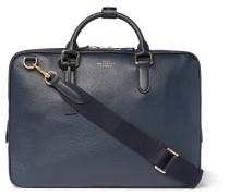 Burlington Pebble-grain Leather Briefcase - Navy
