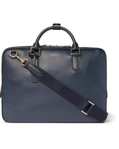 Smythson Herren Burlington Pebble-grain Leather Briefcase Für Billig Zu Verkaufen Verkauf Websites Manchester Online hdN1tx