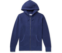 Cotton-blend Terry Zip-up Hoodie - Cobalt blue