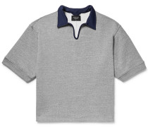 Contrast-trimmed Loopback Cotton-blend Jersey Polo Shirt