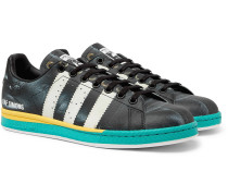 + adidas Originals Samba Stan Smith Printed Leather Sneakers