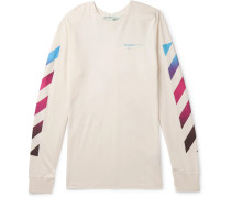 Printed Cotton-jersey T-shirt - Off-white