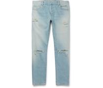 Skinny-fit Distressed Denim Jeans