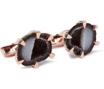 Rose Gold-plated Geode Cufflinks