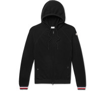 Virgin Wool Zip-up Hoodie - Black