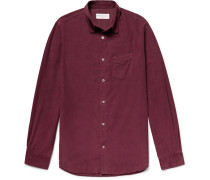 Benoit Garment-dyed Cotton-corduroy Shirt