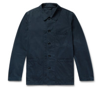 Garment-washed Cotton-twill Field Jacket