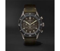 Pilot Cronometro Tipo Cp-2 Automatic 43mm Stainless Steel And Nubuck Watch - Gray