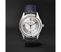 Master Control Date Automatic 39mm Stainless Steel And Alligator Watch