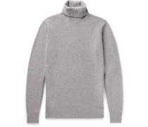 Mélange Baby Cashmere Rollneck Sweater