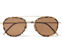 Aviator-style Tortoiseshell Acetate And Gold-tone Sunglasses