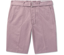 Julian Slub Cotton And Linen-blend Shorts