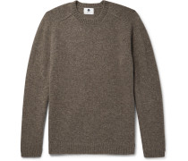 Nathan Mélange Shetland Wool Sweater - Brown