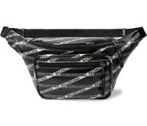 Explorer Logo-print Leather Belt Bag - Black