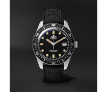 Divers Sixty-five Automatic 42mm Stainless Steel And Rubber Watch - Black