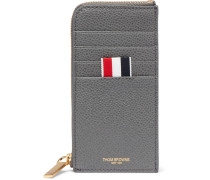 Two-tone Pebble-grain Leather Zip-around Cardholder - Gray