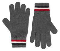Logo-Appliquéd Virgin Wool Gloves