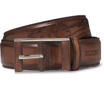3.5cm Tan Scritto Leather Belt