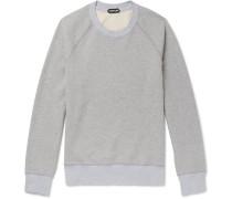 Mélange Loopback Cotton-jersey Sweatshirt - Gray