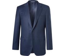 Navy Slim-fit Super 120s Wool Suit Jacket - Navy