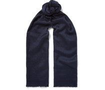 Scritto Cashmere, Silk And Wool-blend Jacquard Scarf