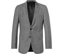 Grey Soho Wool-sharkskin Suit Jacket