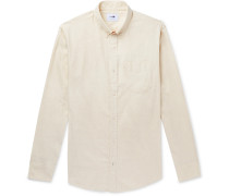 Levon Button-Down Collar Brushed Cotton-Flannel Shirt