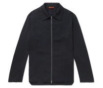 Slub Woven Blouson Jacket