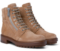 Embossed Suede Boots