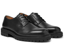Jacques Leather Derby Shoes - Black