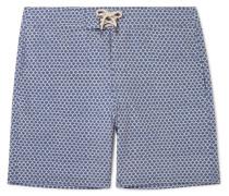 Slim-Fit Long-Length Printed Swim Shorts