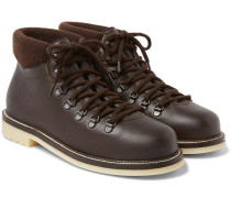 Laax Full-grain Leather Boots - Brown