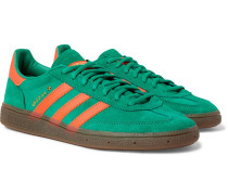 Handball Spezial Leather-trimmed Suede Sneakers - Green