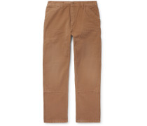 Organic Cotton-Canvas Cargo Trousers