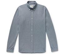 Brook Button-Down Collar Puppytooth Cotton Shirt