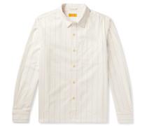 Christopher Striped Cotton-Dobby Shirt