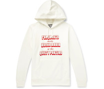 + Fragment Printed Loopback Cotton-Jersey Hoodie
